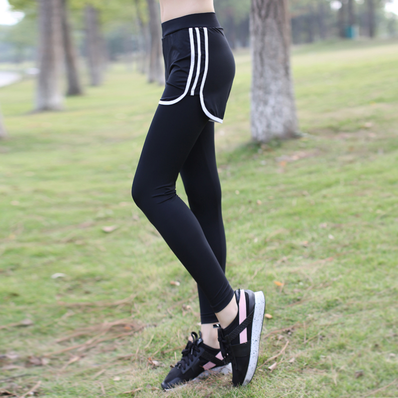 6552057fb0 Yoga pants female 2019 summer thin section quick-drying gym pants were thin running  yoga sportswear tight-fitting two pieces