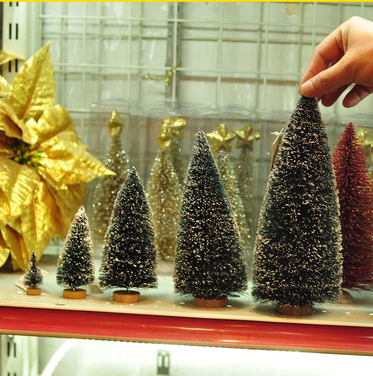 桌面圣诞树摆件 创意圣诞节礼物礼品装饰品批发 小号松树雪松玩具