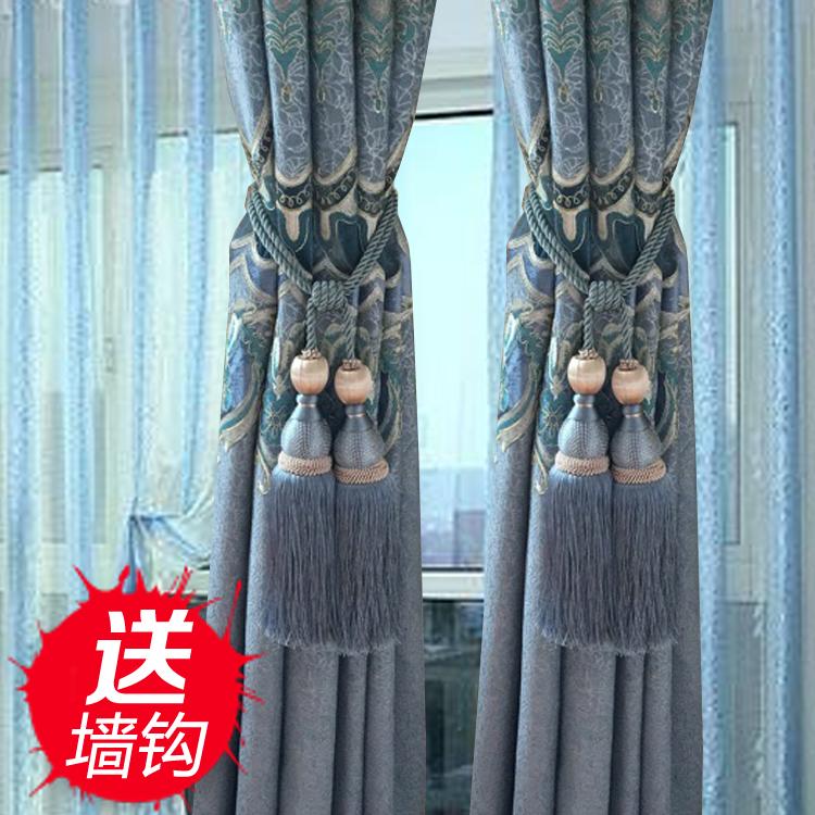 Подхват для штор Европейский цветы занавески пряжка ремень привязал веревку галстук ремень висит шар крюк кисточкой пару минималистский современной гостиной