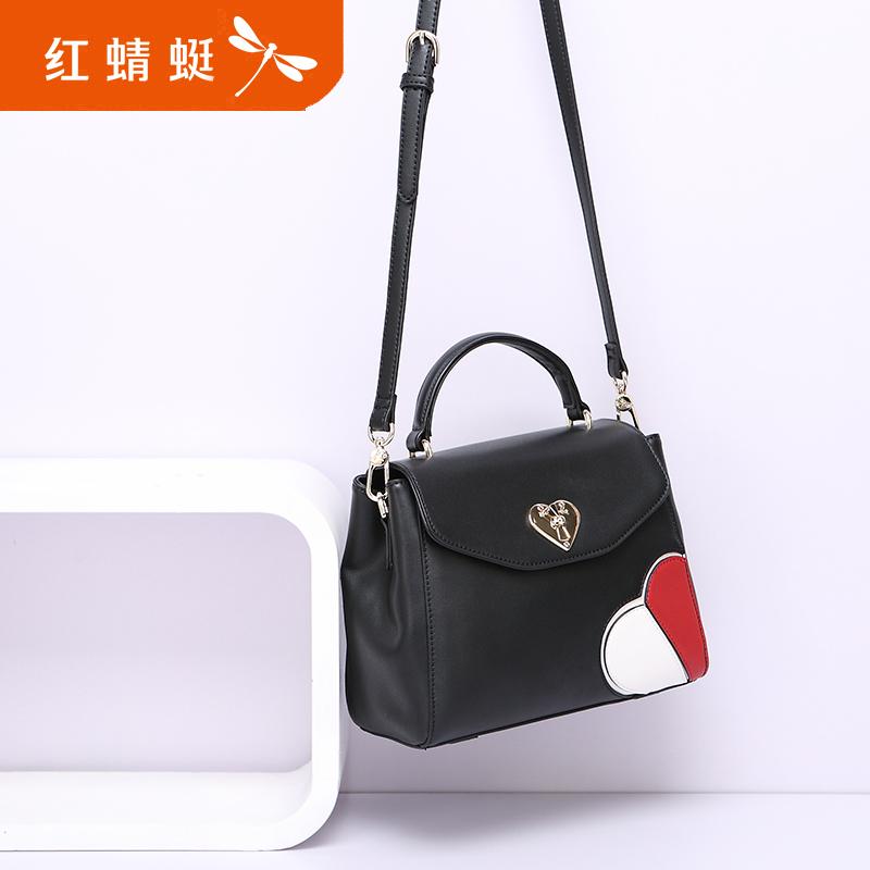 Red Dragonfly Handbags 2017 Autumn New Love Fashion Handbag Casual Wild Shoulder Bag Messenger