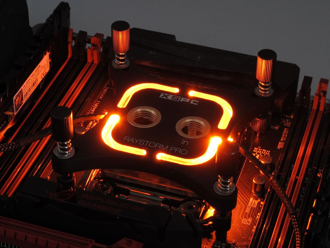 XSPC RayStorm Pro CPU电脑水冷散热全平台冷头黑色2011(-3) 1151