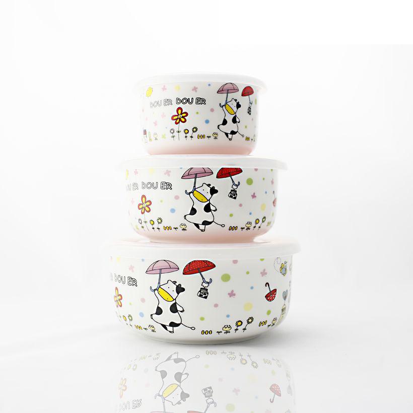 NOSIN phim hoạt hình tươi bát, hộp giữ tươi, dụng cụ giữ tươi, hộp ăn trưa, hộp cơm, bát gạo, bảo quản trái cây