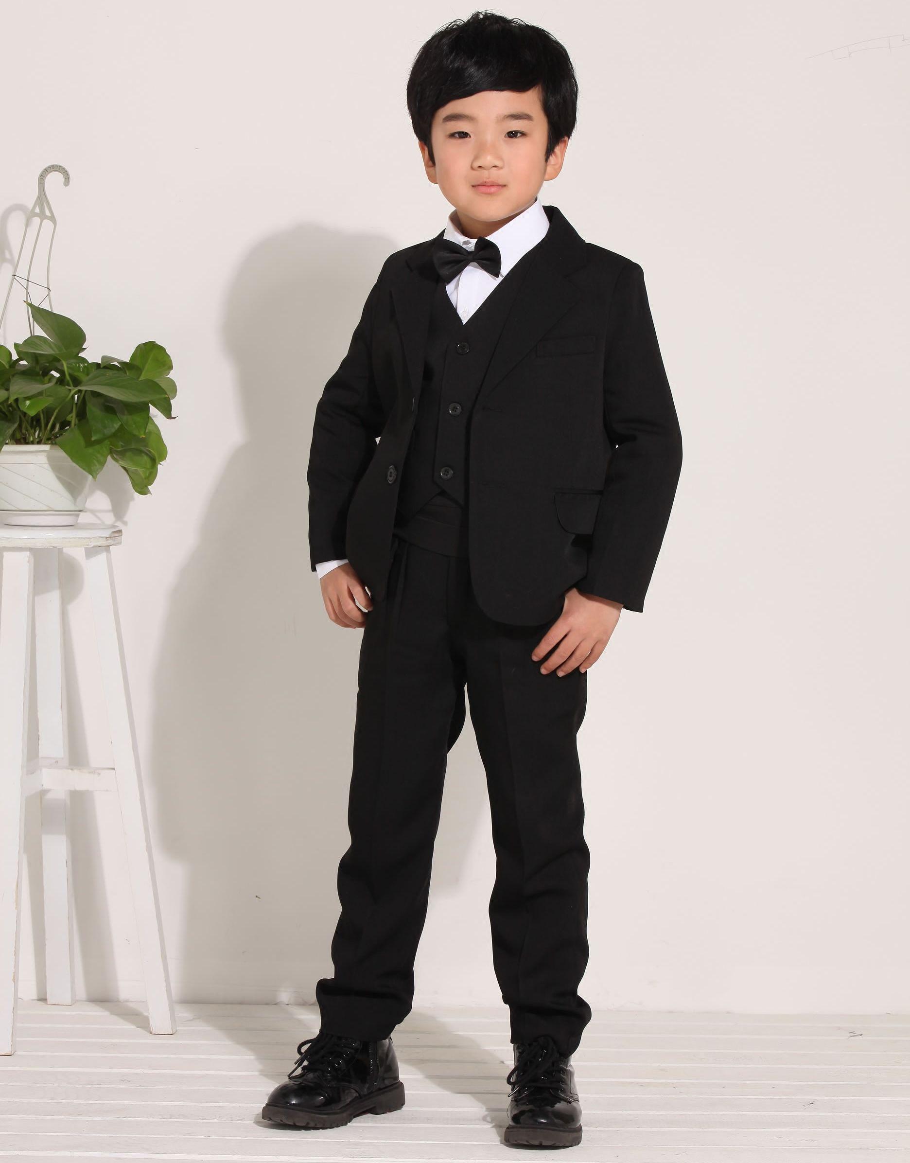 USD 33.71] Boys suit children suits boys dress suit Flower Girl suit ...