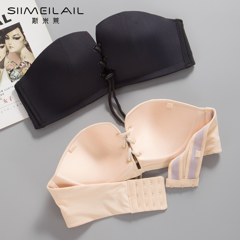 b21c9b4545 Strapless bra underwear women gathered tube top thin section ...