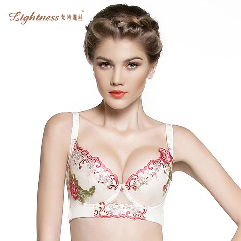 莱特妮丝专柜正品 调整型文胸光面聚拢丰胸集中小胸内衣B22 D22