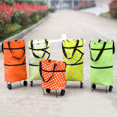 Multifunctional supermarket shopping cart portable shopping bag large tug bag foldable portable small cart shopping cart
