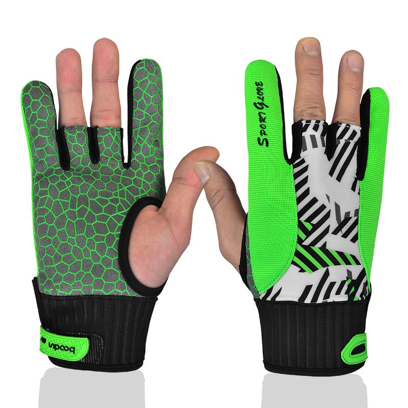 Boodun găng tay bowling cho nam giới và phụ nữ bảo vệ giản dị trong nhà bowling non-slip găng tay thoải mái chịu mài mòn ngón tay