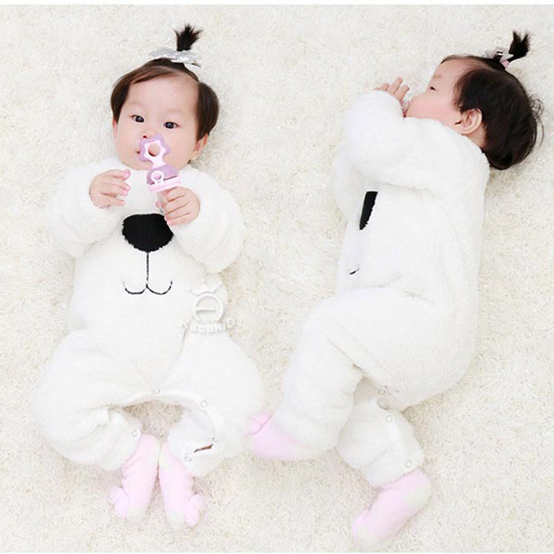 d4a7e3a5d868 Baby winter jumpsuit 1 years 3-6-10 months male and female baby newborn  cotton autumn and winter clothing out of Service