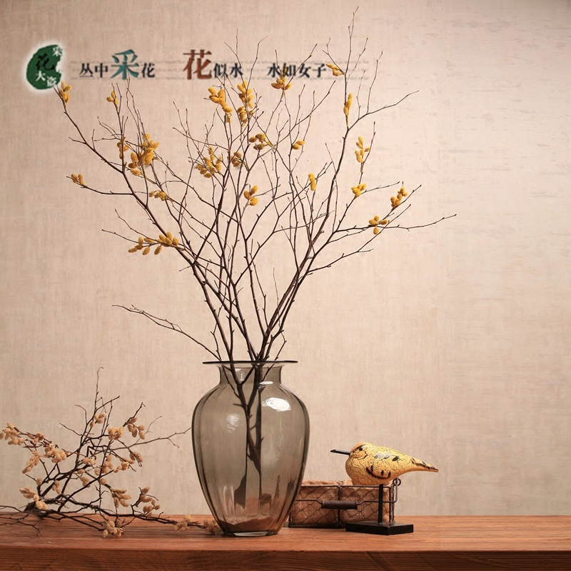 USD 11.70] Dried flower bouquet Dried tree branches decorated ganzhi ...