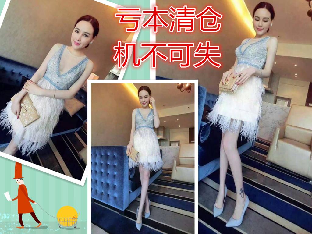 外贸正品原单尾货女装欧美尾单高级定制名媛气质夏装连衣裙新款