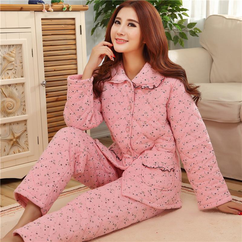 家乐芬秋冬季睡衣男士长袖睡袍浴袍三层加厚长款珊瑚绒夹棉法兰绒