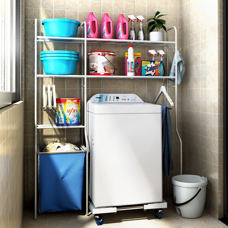 Multipurpose Washing Machine Rack Racks Drum Balcony Toilet Toilet Rack  Floor To Ceiling Storage Rack Bathroom Supplies