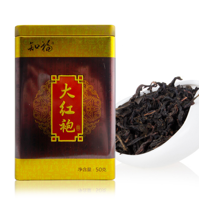 知福 大红袍茶叶武夷岩茶 罐装50g 大红袍乌龙茶茶叶