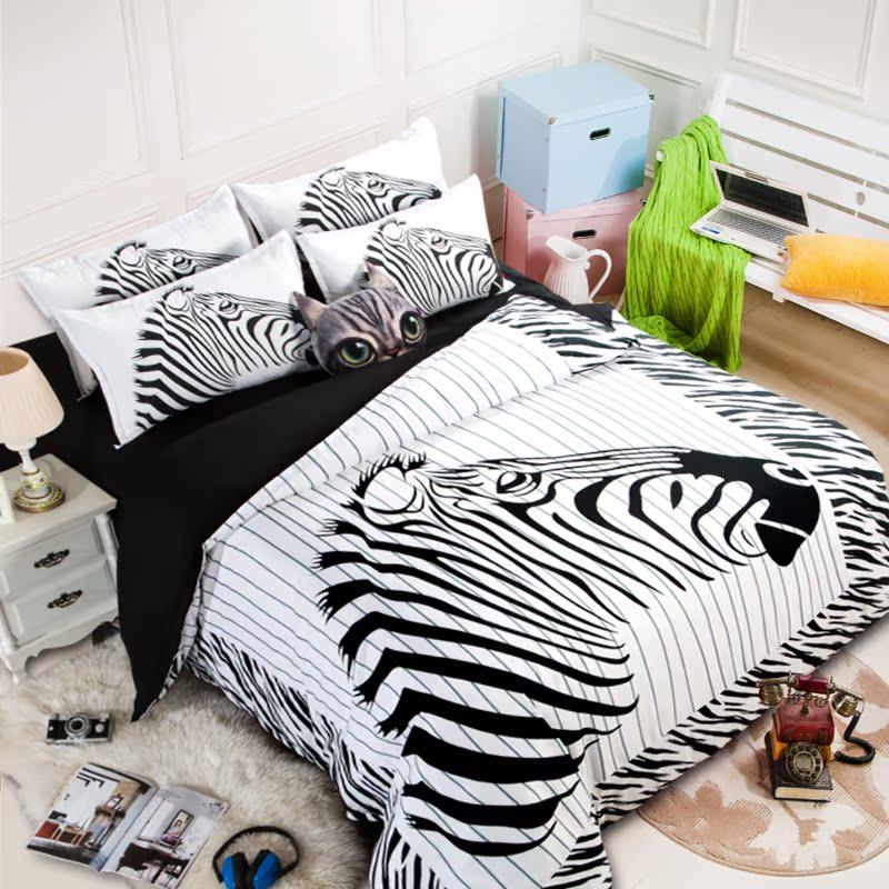 纯色纯棉简约四件套男素色全棉宿舍三件套床单床笠被子被套1.8m夏