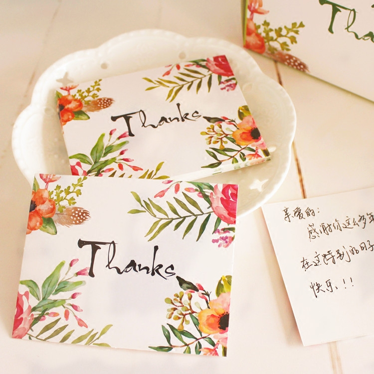 Usd 548 thank you small card message card thank you card small thank you small card message card thank you card small postcard holiday thanksgiving greeting cards 50 m4hsunfo