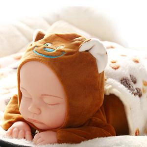 仿真婴儿洋娃娃软胶睡眠宝宝安抚陪睡萌娃娃女孩儿童毛绒公仔玩具