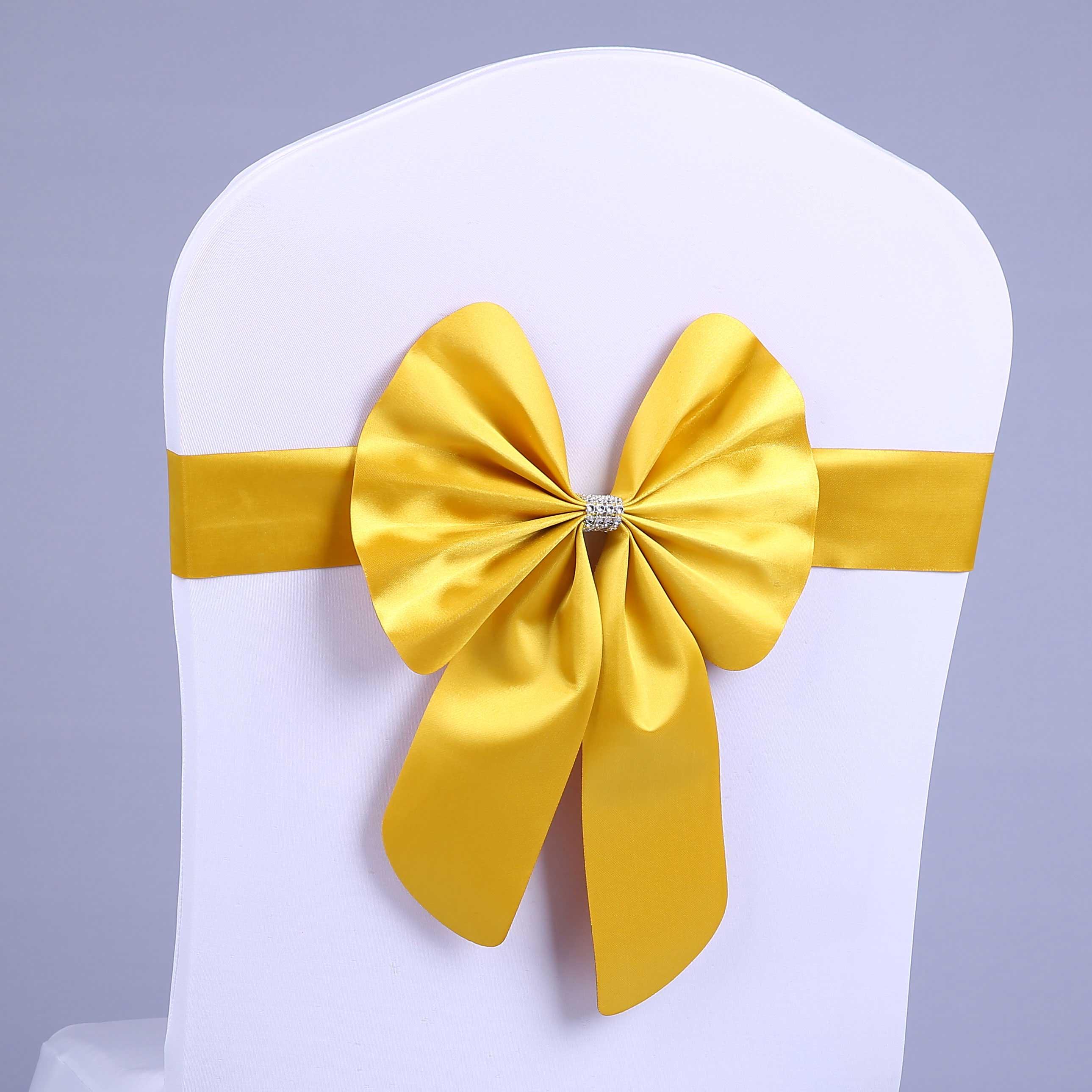 Usd 483 Wedding Bow Free Elastic Chair Back Flower Hotel Ribbon