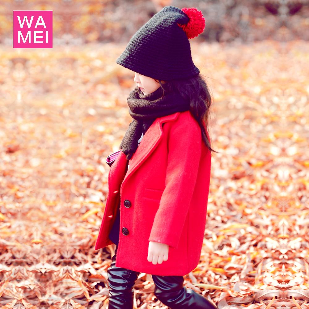 童装女童呢大衣2015秋冬装新款中大童韩版儿童加厚呢子中长款外套
