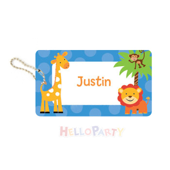 New bag pendant name anti-lost party gift lion and deer luggage tag