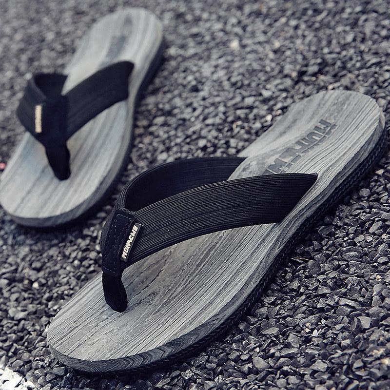 Dép nam dép mùa hè trơn bình thường triều pinch thời trang mặc của nam giới dép giày bãi biển ngoài trời flip flops