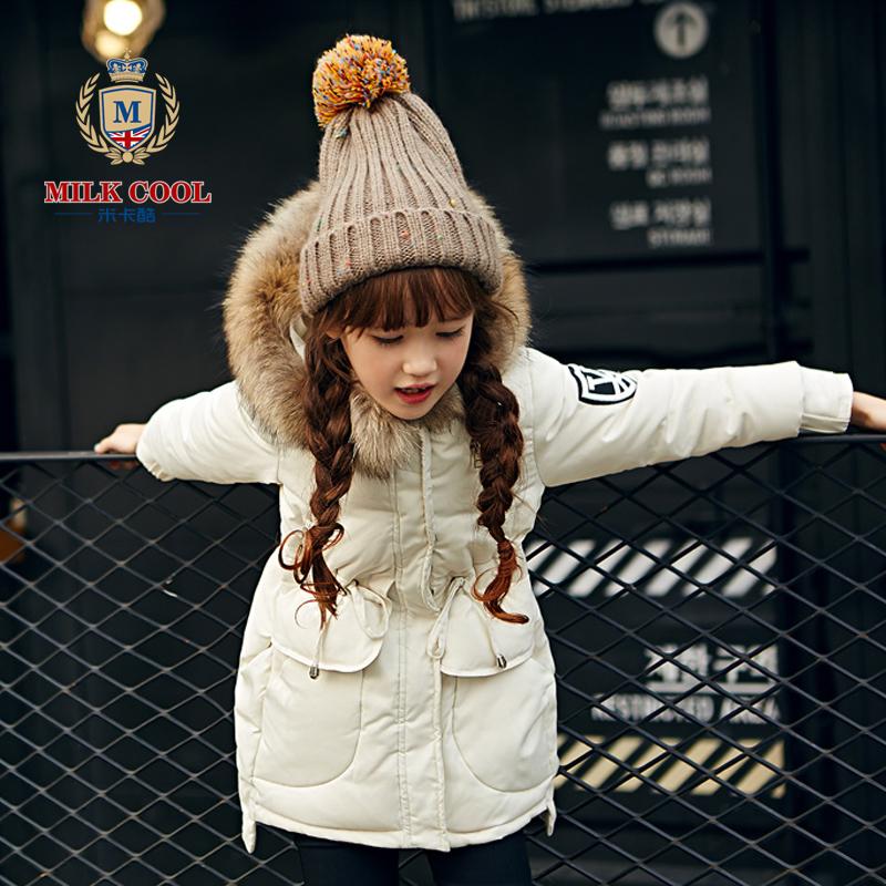 韩版女童羽绒服外套公主裙摆2015新款秋冬大码装中大童保暖时尚季