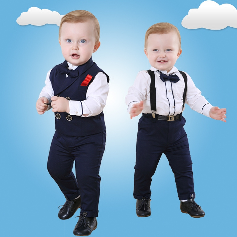 British Style Baby Year Old Dress Male Handsome Suit 1 3 Years Tide Coat Flower Girl Autumn