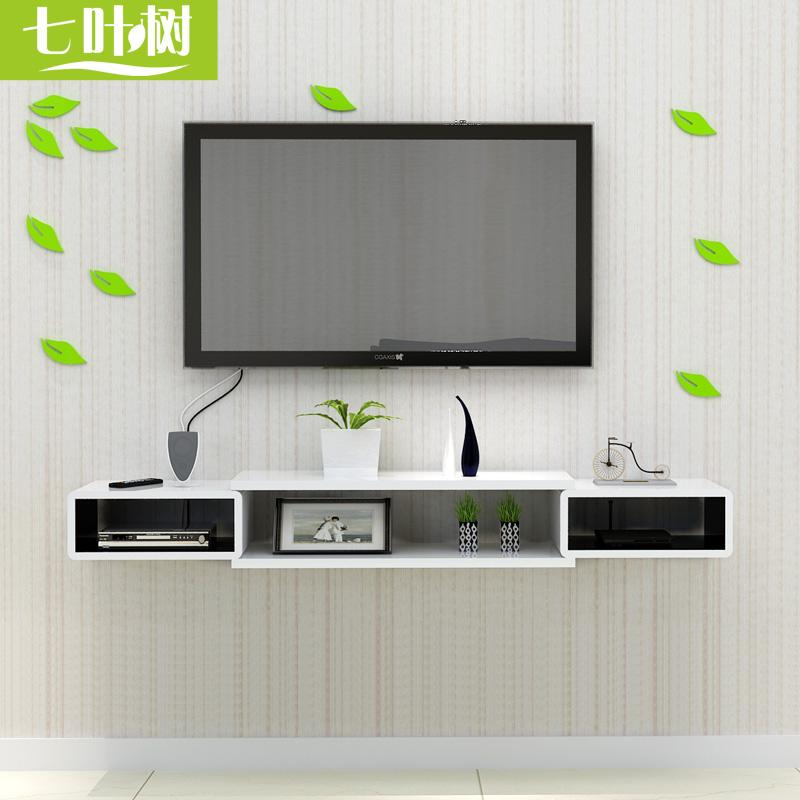 [USD 30.08] Set-top Box Shelf Living Room TV Background