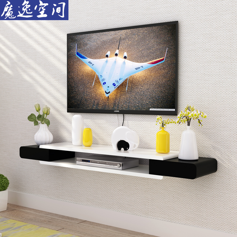 TV Cabinet Set Top Box Shelf Living Room TV Wall Background Wall Hanging  Shelf Bedroom Wall Decoration Frame Hanging Wall