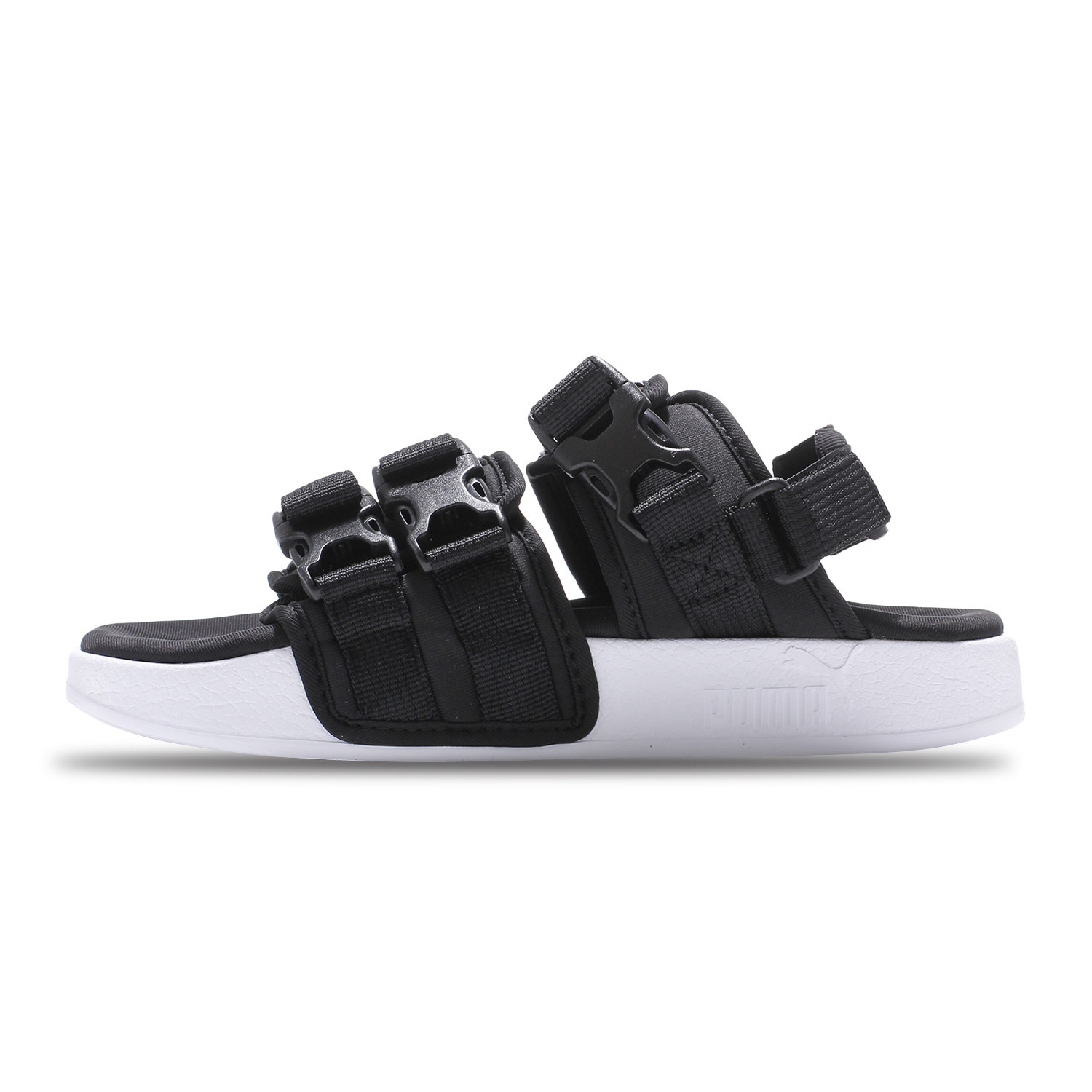 43dcbb907871 Puma Leadcat YLM black and white Velcro men and women sports and leisure  beach sandals 365630-01-06
