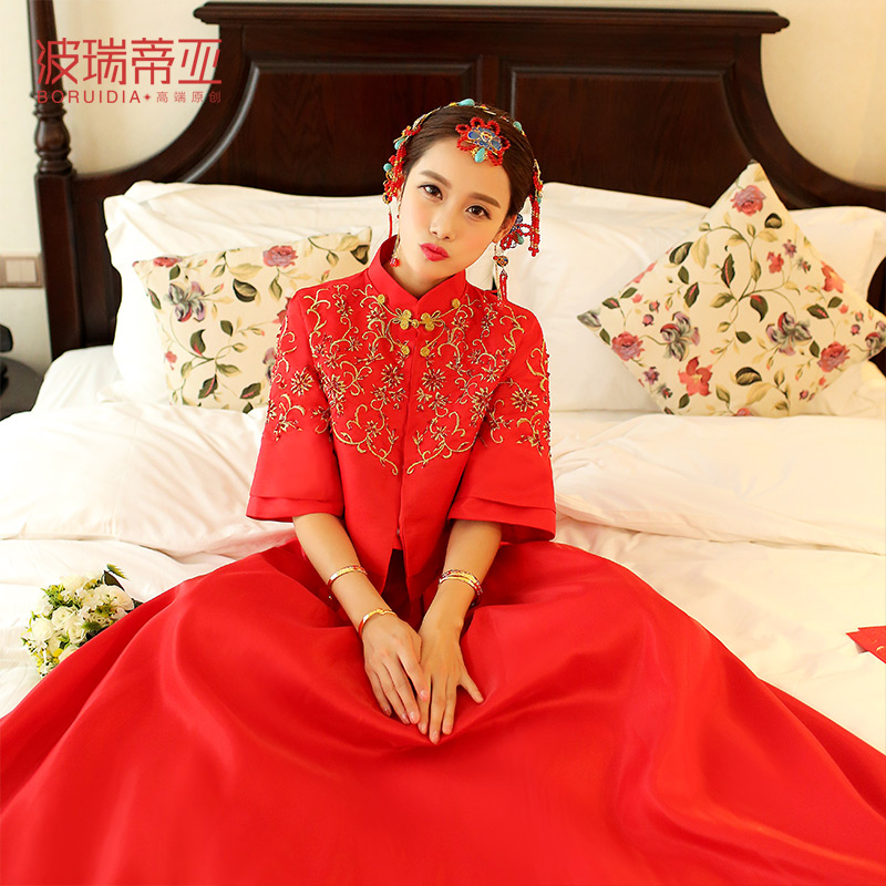 USD 246.29] 2018 new show WO clothing dragon and Phoenix gown ...