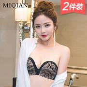 Strapless bra đồ lót vô hình phụ nữ thu thập non-slip ngực dán mà không cần dây đeo áo ngực phần mỏng trên nửa cốc mà không cần vòng thép
