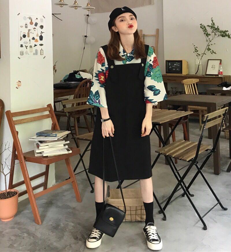 2019年早秋裝新款高冷御姐風成熟洋氣網紅背帶裙兩件套裝裙子夏季