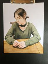 定制手绘真人彩色肖像画,送女友创意礼物