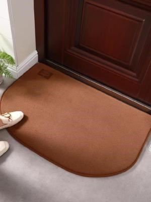 Fan-shaped foot mat Shower mat Quick-drying non-slip bathroom Japanese-style comfortable breathable semi-circular balcony Quick-drying cotton
