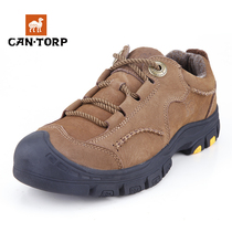 Cantorp camel casual shoes men's autumn and winter outdoor shoe head layer wear waterproof walking shoes