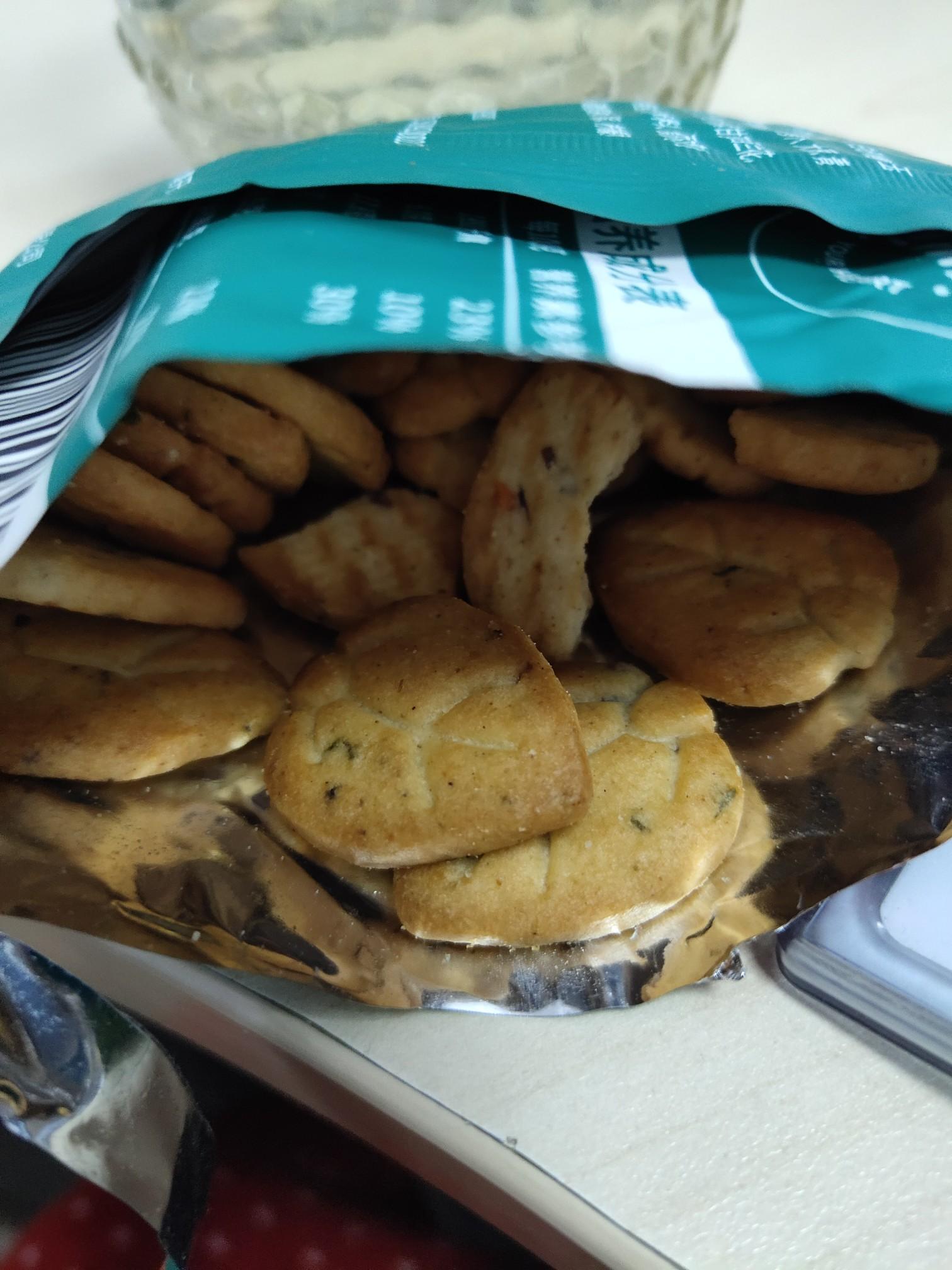 拍6件!田园百珍九种蔬菜薄脆饼干整箱