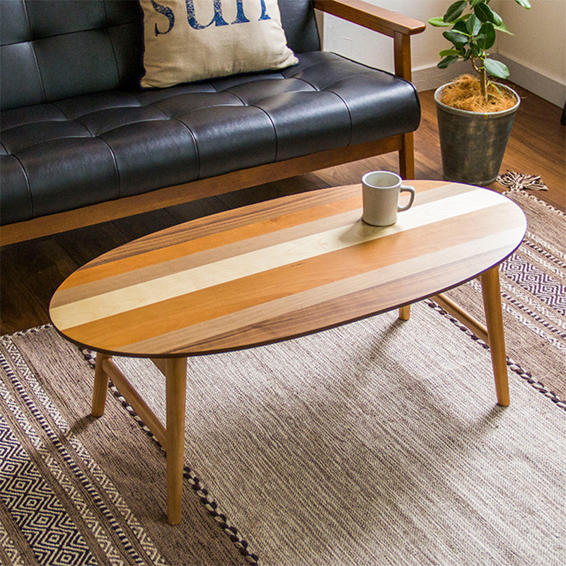 Anese Coffee Table Multi Color Parquet Simple Modern Small Apartment Tatami Creative Round