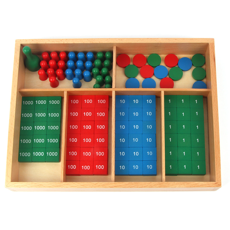 USD 2671 Montessori Math Teaching Aids Stamp Game Toys