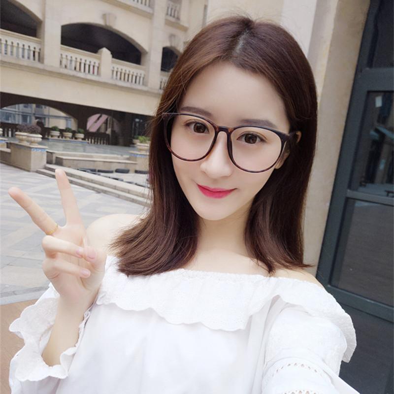 复古TR90眼镜框可配a男女大脸超轻男女架韩版潮眼睛大框圆脸款全框