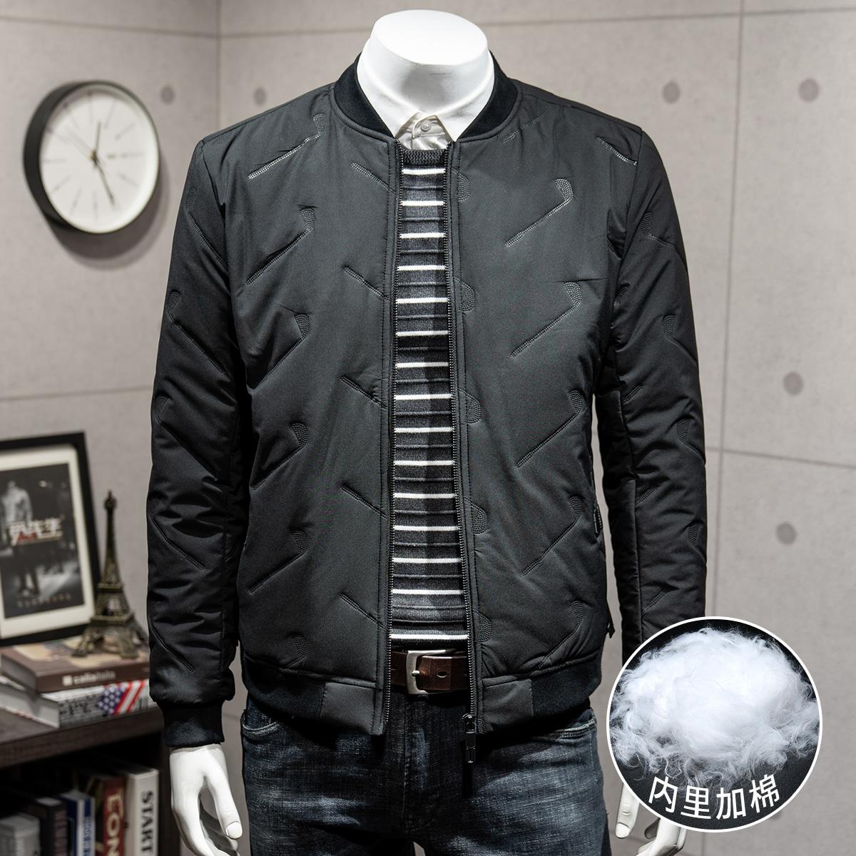 觅先生抖音同款男士外套薄款棉衣韩版百搭潮男短款帅气棒球服夹克