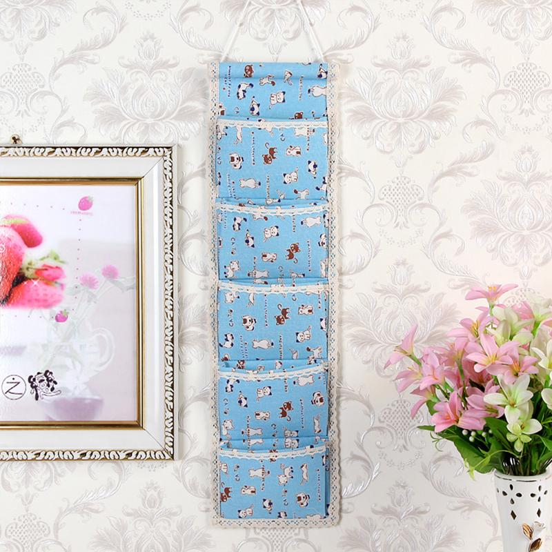 Storage Bag Hang Bag Wall Hanging Fabric Hanging Storage Bag Cell Phone  Hanging Pocket Bag Sock Wardrobe Storage Hanging Bag