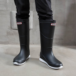 Rain boots men's spring and autumn boots fashion high tube waterproof shoes winter non-slip wear-resistant two-user outdoor tide rain boots rubber shoes