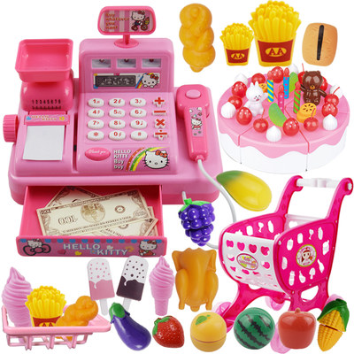 Children's supermarket simulation cash register toy credit card machine cash register play house kitchen toy girl 3-6 years old