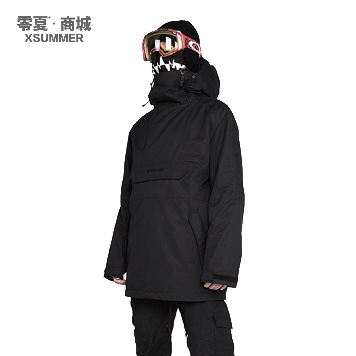 【 нулю лето 】NOBADAY / ND шпон катание на лыжах черная одежда цвет рукав голову катание на лыжах одежда геометрическом ветер подходит для мужчин и женщин