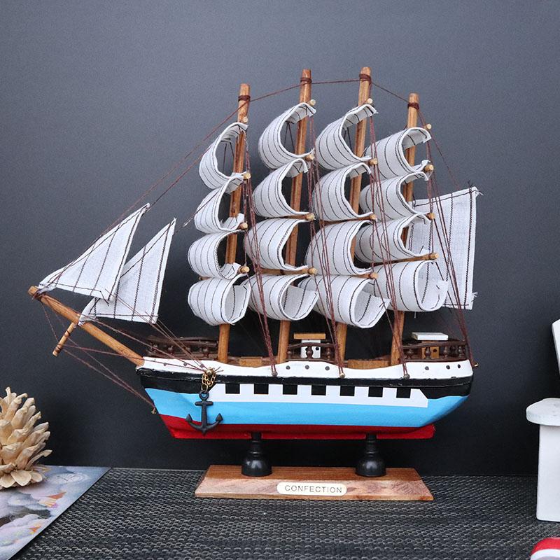 Usd 9 83 Solid Wood Sailing Handicrafts Sailing Model Living Room