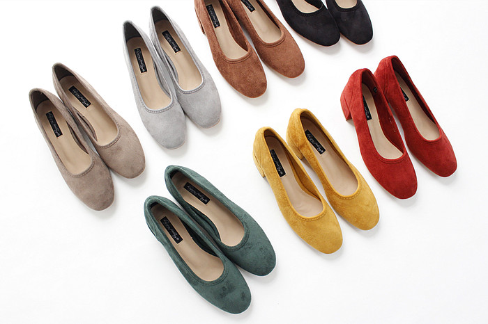 18 new spring and autumn shallow rough suede shoes plus velvet popular shoes low-heeled size women shoes 10