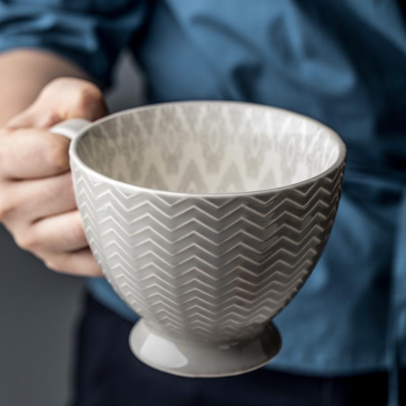 悠瓷 创意早餐杯燕麦杯大码陶瓷杯 大容量牛奶杯咖啡杯马克杯碗杯