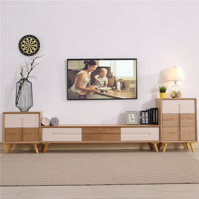 Nordic Tv Cabinet Coffee Table Combination Living Room Set Simple