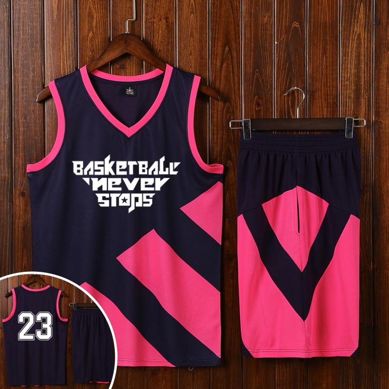 Usd 37 07 Large Code Basketball Suit Custom New Basketball Suit Diy Print Training Match Wear Black And Pink Jersey Custom Logo Wholesale From China Online Shopping Buy Asian Products Online From