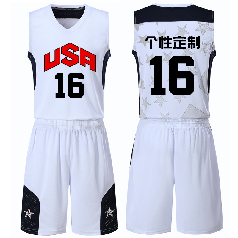Dream 10 Basketball suit custom American basketball dress American men s  team shirt personality custom DIY Dream 942084fb7